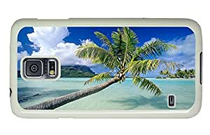 Hipster Samsung Galaxy S5 Case case mate Palm over Water PC White for Samsung S5