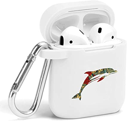 Shockproof Soft TPU Gel Case Cover with Keychain Carabiner for Apple AirPods Nautical Compatible with AirPods 2 and 1