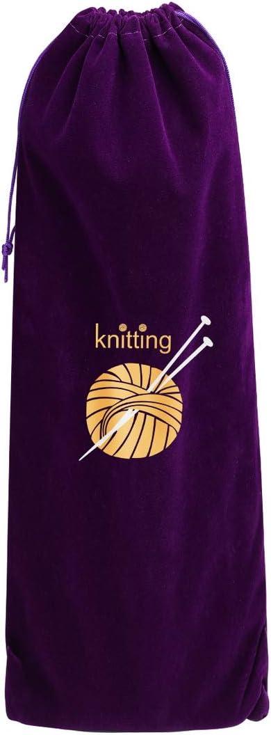 MoneRffi Knitting Needle Set 22pcs Stainless Steel Sweater Knitting Needles Kit 2mm-8mm 11Pair-11 Size with Case Bag