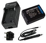 Battery + Charger for Sony Alpha 7, a7, Alpha 7R, a7R, Alpha a3000, Alpha a5000, Alpha a6000 Mirrorless Digital Camera