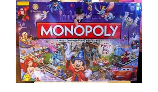 Disney Theme Park Edition Monopoly Game Castle NEW by Disney: Amazon.es: Juguetes y juegos