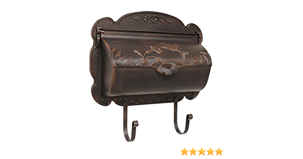 Hummingbird Horizontal Wall Mounted Mailbox Finish Black Security Mailboxes Amazon Com