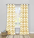 Duck River Textiles – Vauxhall Geometric Faux Linen Textured Grommet Top Window Curtains for Living Room & Bedroom – Assorted Colors – Set of 2 Panels (40 X 84 Inch – Charcoal) For Sale