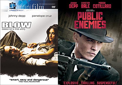 Johnny Depp 2-Movie Action Bundle Blow & Public Enemies Double Feature Crime DVD - In Depp Johnny Movie Vegas