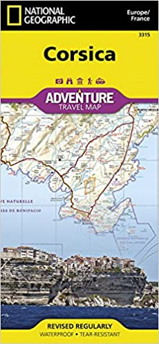 Corsica France National Geographic Adventure Map National