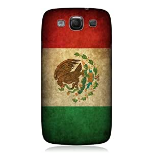 AIYAYA Samsung Case Designs Mexico Mexican Flag Vintage Flag Protective Back Case Cover for Samsung Galaxy S3 III I9300