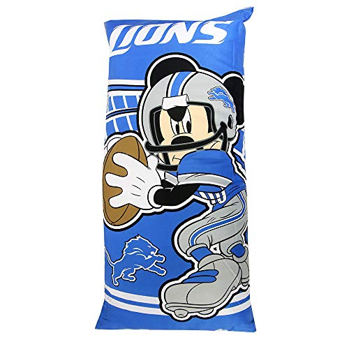 The Northwest Company Officially Licensed NFL Detroit Lions Mickey Mouse Fold-Up Body Pillow