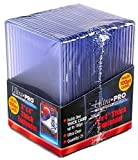4 Ultra Pro 100pt Top Loaders - 25 Toploaders Per Pack (100 Total) - Thick Baseball, Football, Basketball, Hockey, Gaming