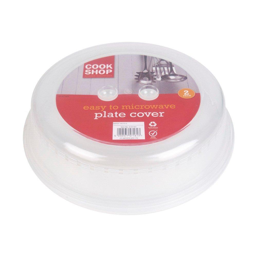 2 unidades plato para microondas placa Covers- de ventilación para ...