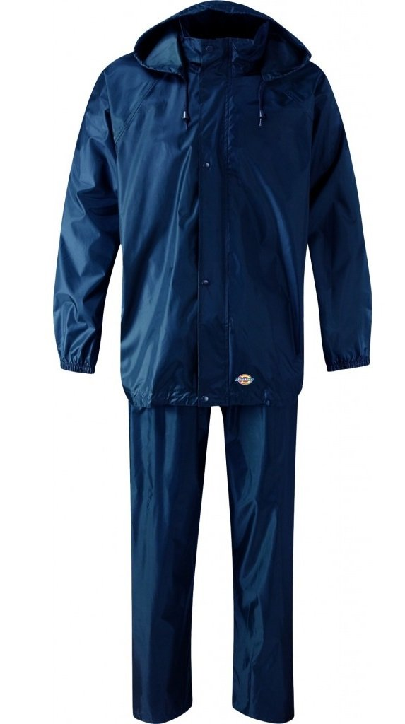 Dickies WP10050 NV S Size Small 'Vermont' Water Resistant Suit - Navy Blue