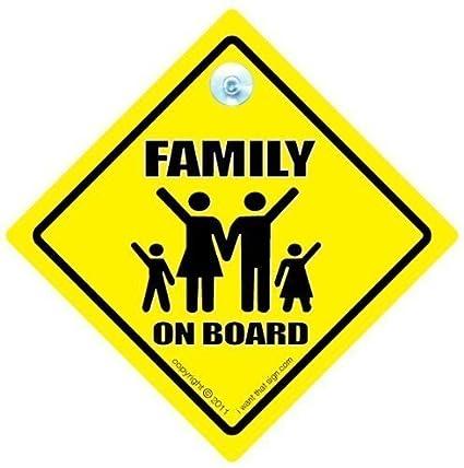 Familia A BORDO, Señal Coche, ondulado, bebé a bordo señal ...
