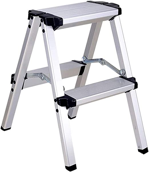 Escaleras plegables Ingeniería Multifuncional Hogar Telescópica Escalera, Escalera Grueso De Aleación De Aluminio For Adultos, En Dos Pasos Escalera De Doble Uso De Heces, Ligero Y: Amazon.es: Hogar