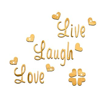 Amazon.com: Beautiful Live Laugh Love Quote Removable Wall ...