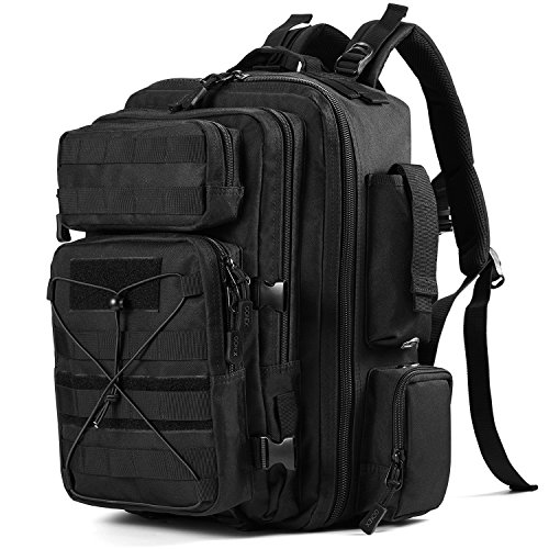 Gonex Tactical Military Backpack Rucksack, Molle Bug Out Bag Backpacks for Outdoor Hiking Camping Trekking Hunting 30L(Black)