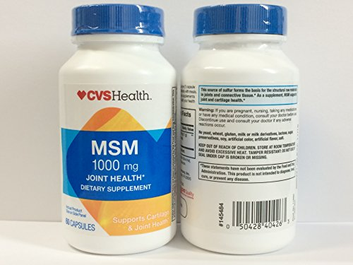 Cvs Health Msm 1000 Mg Joint Health  Pack Of 2 X 60 Capsules