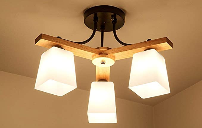 Lámparas de techo, luces de dormitorio matrimonio cálido y ...