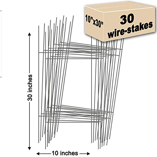 30 Sign Stakes Double H-Frame Stakes   10 in. x 30 in. USA Made