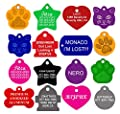 Dog ID Tags Personalized | Many Shapes to Choose From| 8 Colors | by CNATTAGS