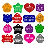 Dog ID Tags Personalized, Many Shapes and Colors Available