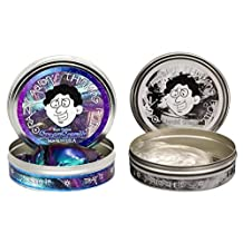 Thinking Putty 2 Pack: Liquid Glass + Super Scarab, Large 4 Tins