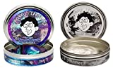 Thinking Putty 2 Pack: Liquid Glass + Super Scarab, Large 4'' Tins
