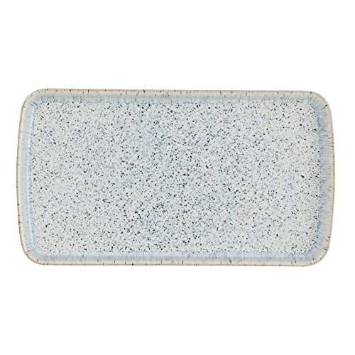 Denby USA Halo Rectangular Plate, Speckle -