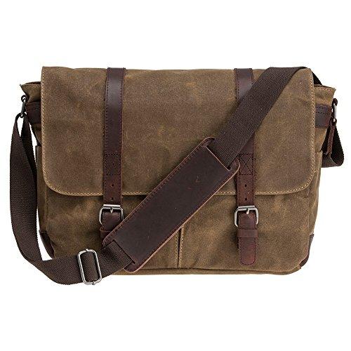Waterproof Waxed Canvas 15 Macbook pro/ 14 Laptop Messenger Bag Men Business Vintage shoulder bag/Briefcase