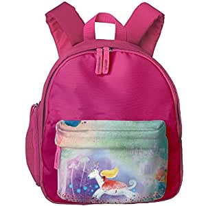 Toddler Kid Vector White Horse Princess School Bag Personalized Preschool Shoulders Bag For Boys Girls