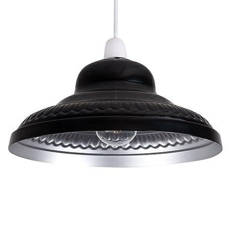 MiniSun - Pantalla metálica vintage para lámpara de techo ...