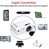 Little Projector for Phone, Cheesea Mini Business Projector HDMI USB with AV/USB/TF/Power Input Port (1080P)