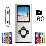 G.G.Martinsen MP3/MP4 Player with a 16GB Micro SD card FM Radio - Silver