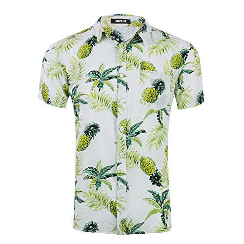 Beach Themed Pools - ZHPUAT Men's Hawaiian Shirt Short Sleeve
