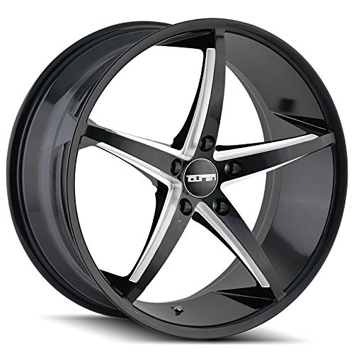 Mitsubishi Eclipse Alloy Wheel - TOUREN TR70 Wheel with Black/Milled Spokes (17 x 7.5 inches /5 x 72 mm, 40 mm Offset