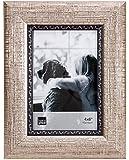 Kiera Grace Brooks Picture Frame, 4 by 6 Inch, Silver Crosshatch