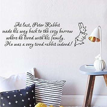 Amazon.com: Wall Decal Decor Peter Rabbit Wall Decal - Baby ...