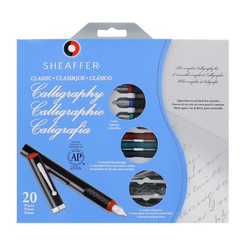 Sheaffer-Pen-Calligraphy-Maxi-Kitw3-Pens3-Nibs14-Assorted-Color-Ink-Sold-as-2-Packs-of-1-Total-of-2-Each