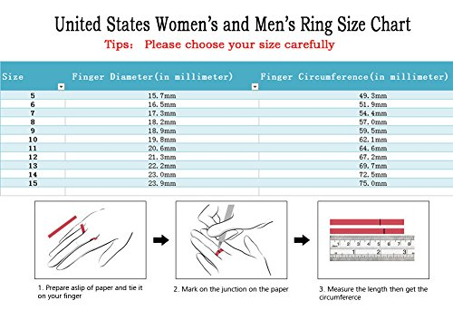 Gy Jewelry Couple Ring His Hers Women Black Gold Filled Cz Men Stainless Steel Bridal Sets Wedding Band by Gy Jewelry (Image #7)