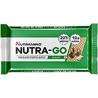 Nutramino Nutra-Go Low Sugar Protein Wafer, Hazelnut, 12 x 39 g