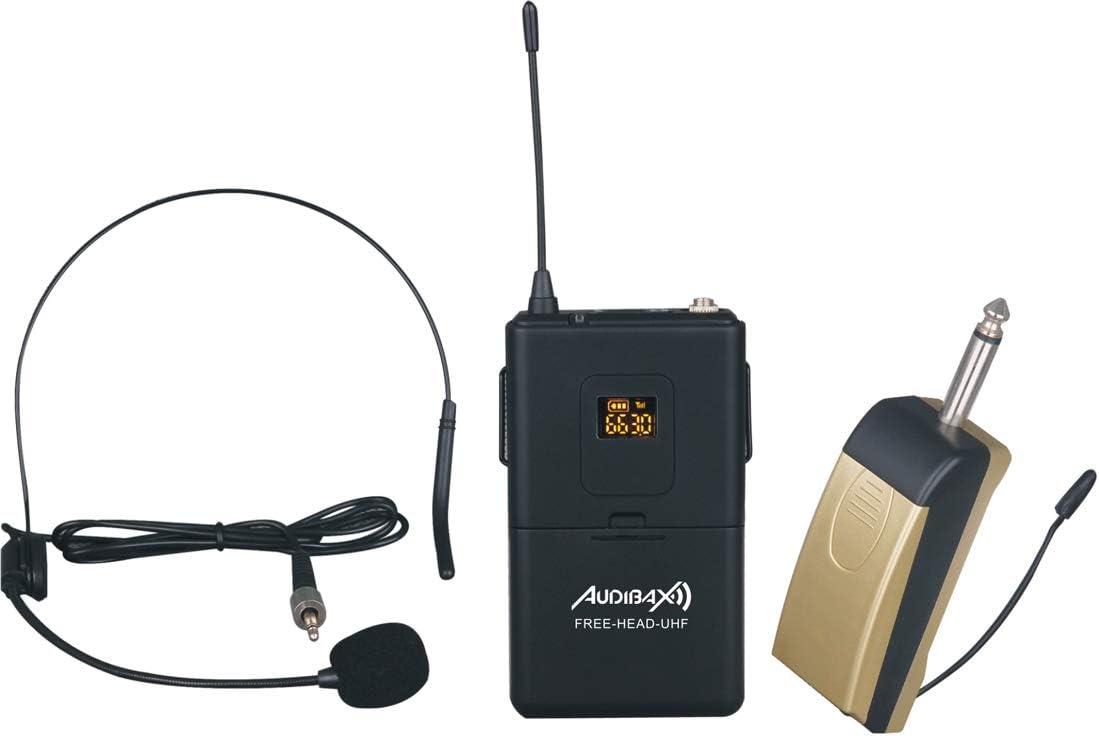 Audibax Missouri Free Head UHF Micrófono de Diadema inalámbrico ...