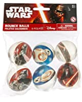 Amscan 6 CountStar Wars Episode Vll Bounce Ball Favors, Multicolor