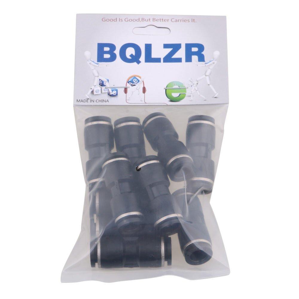 BQLZR Gerade Kunststoff Einrastend Pneumatik Luftschnellkupplungen Armaturen 8mm 10pcs