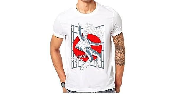 Elvis Cárcel Casa Classic – Camiseta de manga corta Blanco blanco Medium: Amazon.es: Ropa y accesorios