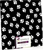 dog bandana sewing pattern - FAT QUARTERS (2) DOG / CAT SMALL Paw Print White on black background ~ 100% COTTON FABRIC ~ Quilt Fabric ~ CRAFTS ~ SEWING