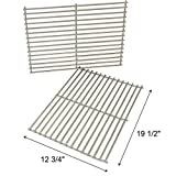 Onlyfire Replacement BBQ Stainless Steel Cooking Grill ROD Grid Grates for Weber 7528 Spirit and Genesis E and S seriesModels Grill - Set of 2