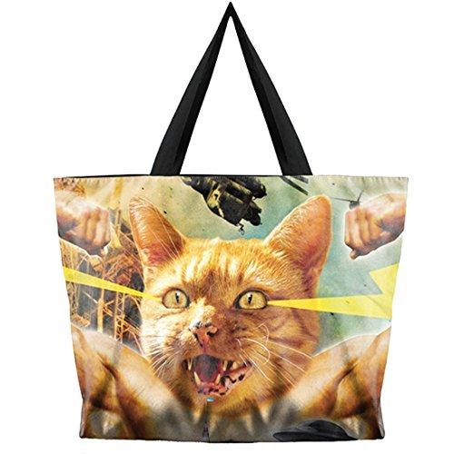Belsen , Sac pour femme à porter à l'épaule multicolore devil taille unique Combat Cat