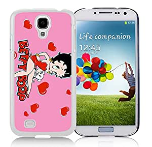 New Unique Designed Cover Case For Samsung Galaxy S4 I9500 i337 M919 i545 r970 l720 With Betty Boop 4 Samsung Galaxy S4 White Phone Case 041