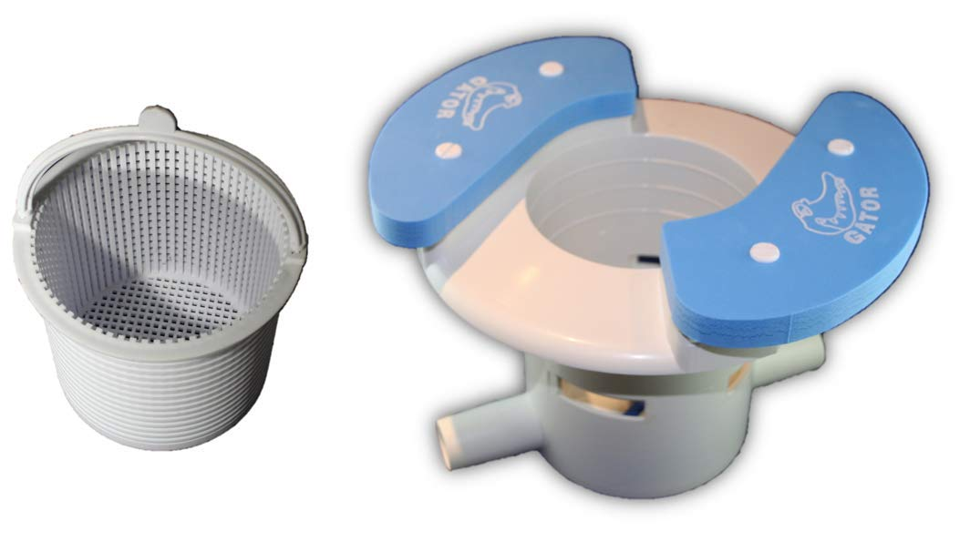 OAI Gator AutoSkim with Basket - Automatic Pool Cleaner, Skimmer & Clarifier - Suction Skimmer for Pools by OAI