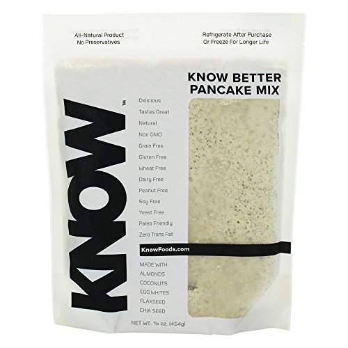 Know Foods Gluten Free Pancake Mix  Low Carb  Keto   Paleo Friendly   16 Oz