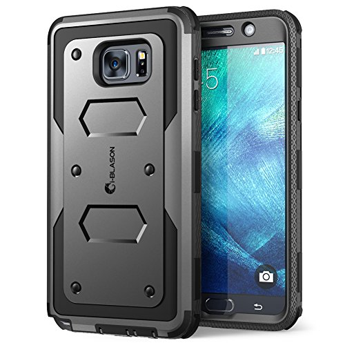 Galaxy Note 5 Case, i-Blason Armorbox Dual Layer Hybrid Full-body Protective Case For Samsung Galaxy Note 5 with Front Cover and Built-in Screen Protector / Impact Resistant Bumpers (Black)