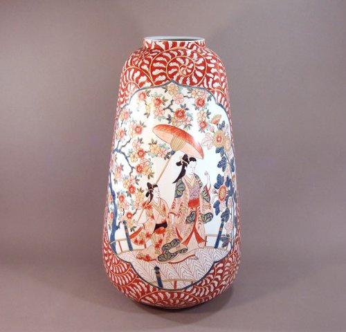 有田焼伊万里焼|花瓶陶器陶芸壺|高級贈答品|ギフト|贈り物|記念品|古伊万里美人画藤井錦彩 B00HF0QBP6
